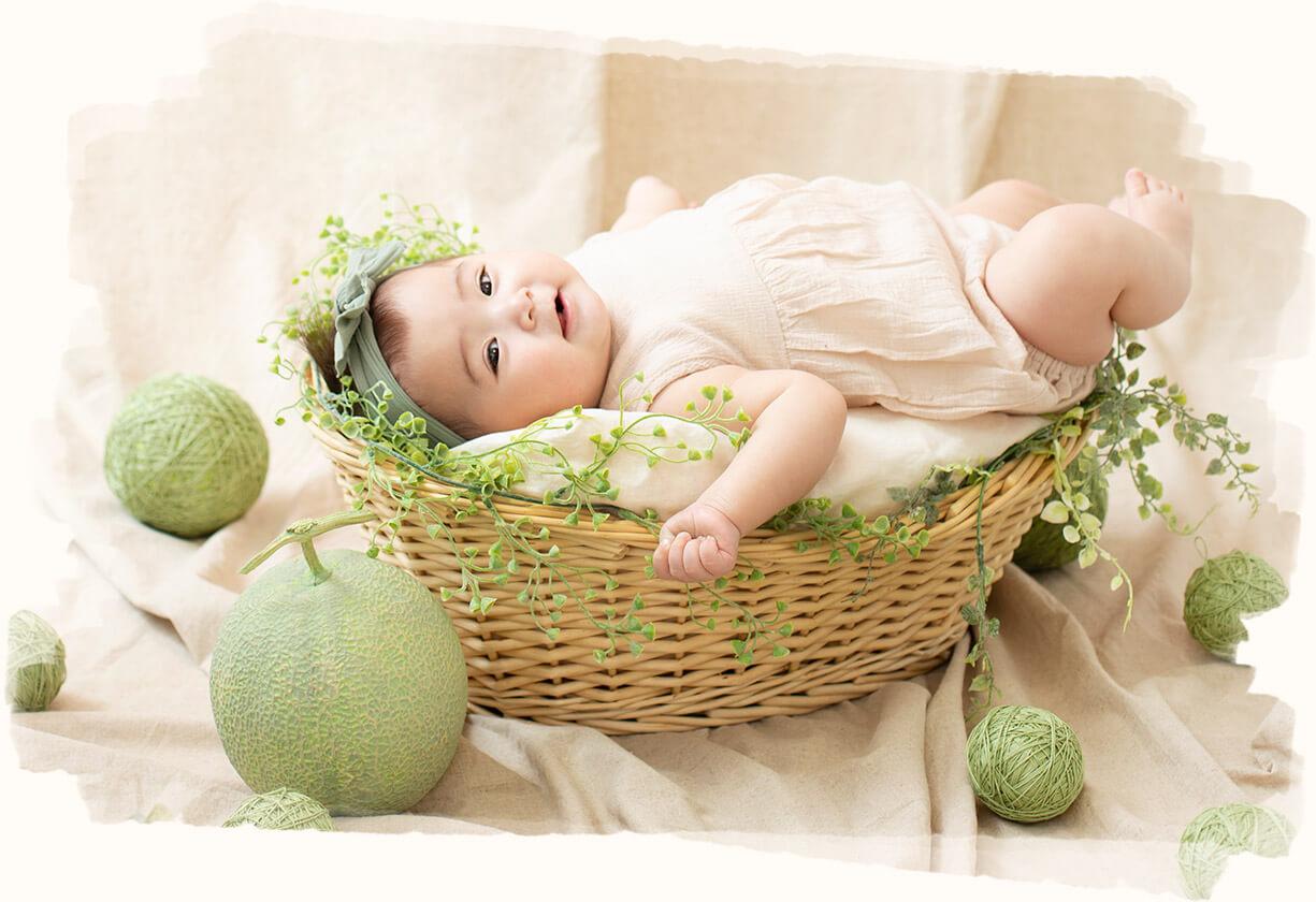 メロン×赤ちゃん