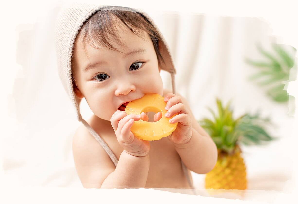 パイナップル×赤ちゃん