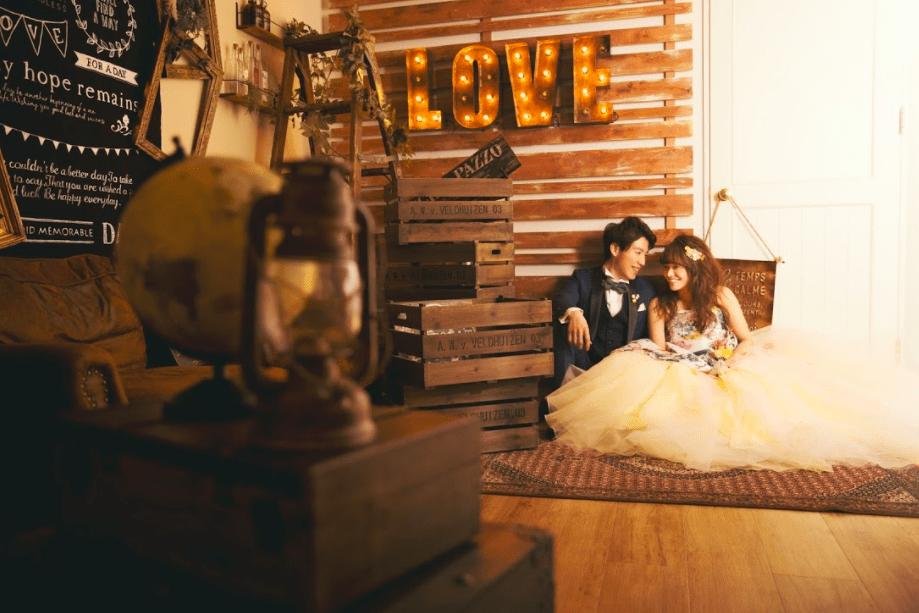 結婚写真 カラードレス