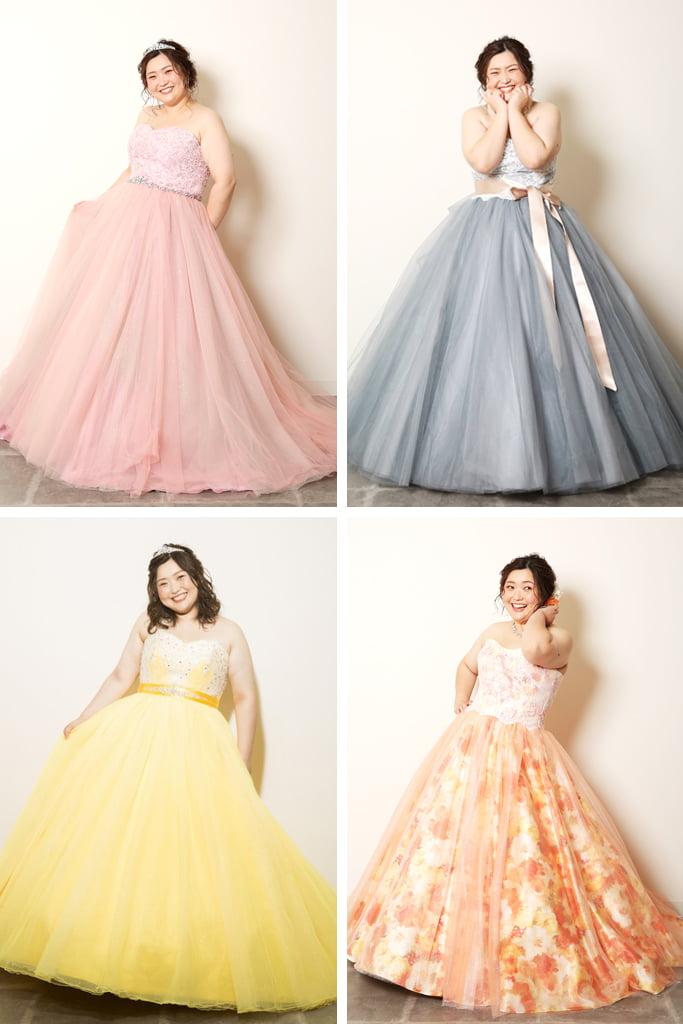 ぽっちゃりカラードレス