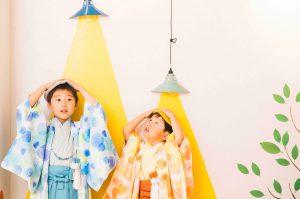 〈札幌東店〉七五三オリジナル着物⦅花火⦆