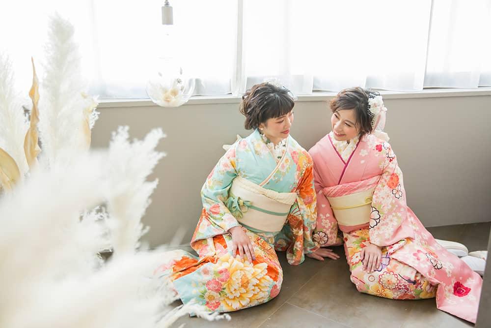 札幌の成人記念はおしゃれに前撮り!ぱれっと人気の振袖コーデ