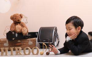LALALAスタジオで入学の撮影『ひろおくん』のお写真のご紹介!