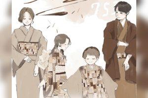 【旭川店】オリジナル着物『ちょこれぃと』七五三は家族みんなでおそろいコーディネート♡